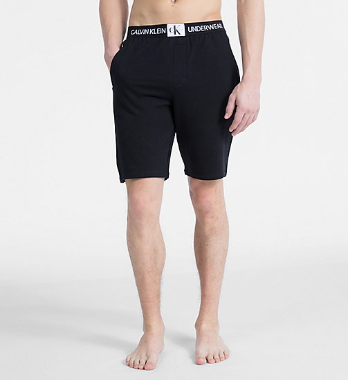 CALVIN KLEIN Pyjama-Shorts - Monogram - BLACK - CALVIN KLEIN MONOGRAM FOR HIM - main image