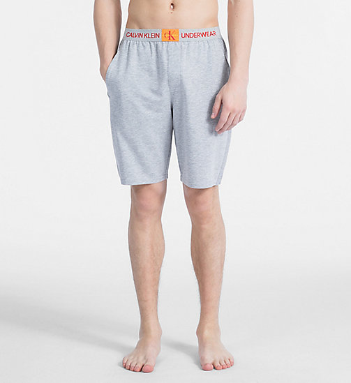 CALVIN KLEIN PJ Shorts - Monogram - GREY HEATHER - CALVIN KLEIN MONOGRAM FOR HIM - main image
