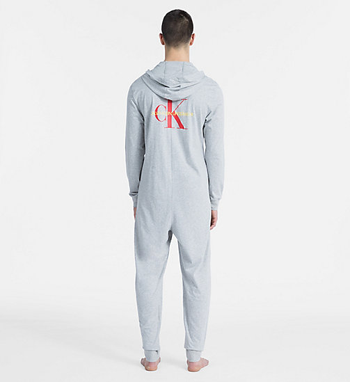 CALVIN KLEIN Salopette d'intérieur - Monogram - GREY HEATHER - CALVIN KLEIN MONOGRAM FOR HIM - image détaillée 1