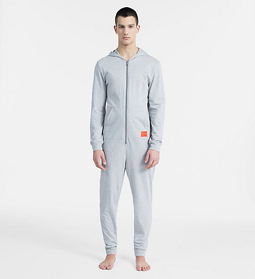 CALVIN KLEIN Salopette d'intérieur - Monogram - GREY HEATHER - CALVIN KLEIN MONOGRAM FOR HIM - image principale