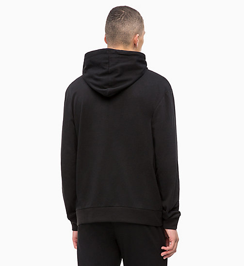 CALVINKLEIN Full Zip Hoodie - Monogram - BLACK - CALVIN KLEIN NEW FOR MEN - detail image 1