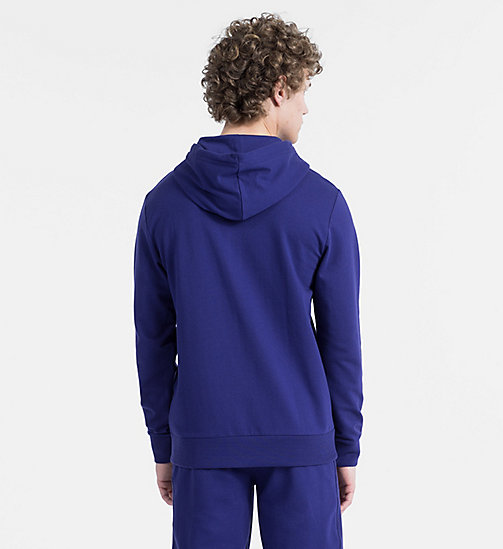 CALVIN KLEIN Full Zip Hoodie - Monogram - SHILO BLUE - CALVIN KLEIN MONOGRAM FOR HIM - detail image 1