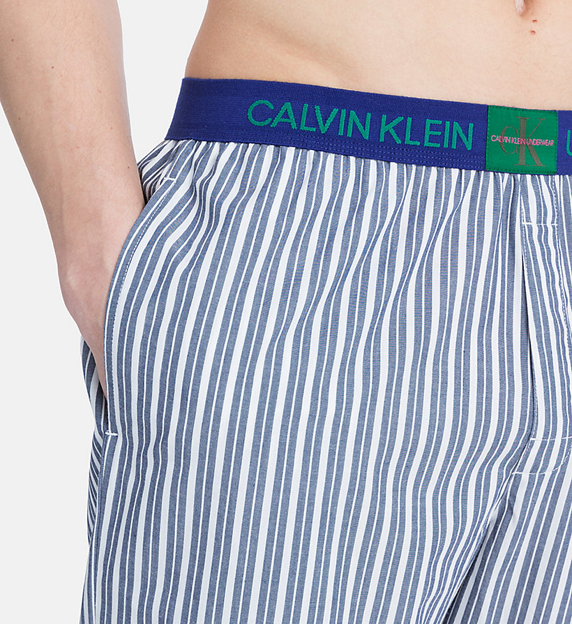 CALVINKLEIN PJ Pants - Monogram - CAMPUS PLAID NAVY - CALVIN KLEIN MEN - detail image 2