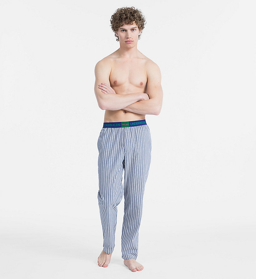 CALVINKLEIN PJ Pants - Monogram - CAMPUS PLAID NAVY - CALVIN KLEIN MEN - detail image 3