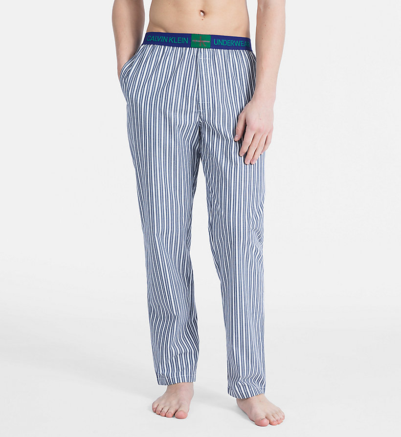 CALVINKLEIN PJ Pants - Monogram - CAMPUS PLAID NAVY - CALVIN KLEIN MEN - main image