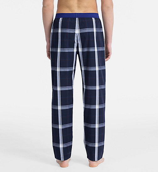 CALVIN KLEIN PJ Pants - Monogram - CAMPUS PLAID NAVY - CALVIN KLEIN NEW FOR MEN - detail image 1
