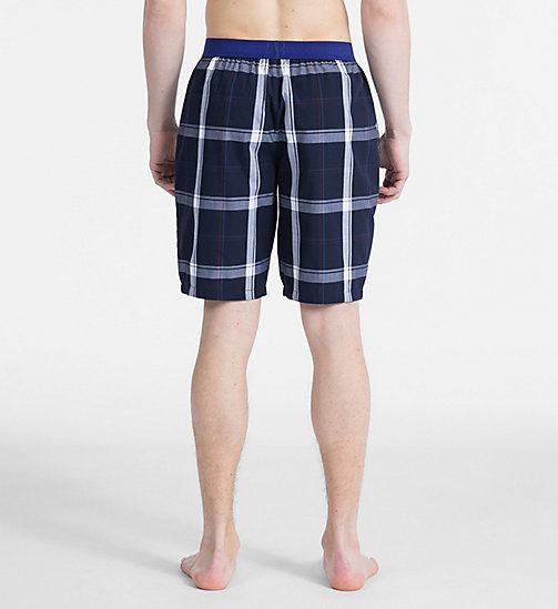 CALVIN KLEIN PJ Shorts - Monogram - CAMPUS PLAID NAVY - CALVIN KLEIN MONOGRAM FOR HIM - detail image 1