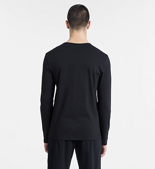 CALVINKLEIN Logo Long Sleeve T-shirt - Monogram - BLACK - CALVIN KLEIN LOUNGE TOPS - detail image 1