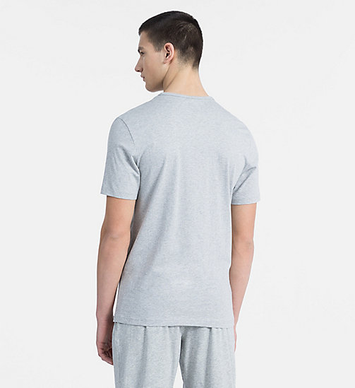 CALVINKLEIN Logo T-Shirt - Monogram - GREY HEATHER - CALVIN KLEIN MONOGRAM FOR HIM - main image 1