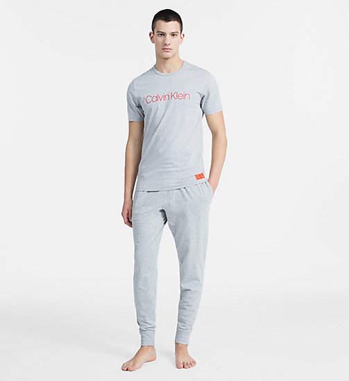 CALVIN KLEIN Logo T-Shirt - Monogram - GREY HEATHER - CALVIN KLEIN MONOGRAM FOR HIM - main image 1