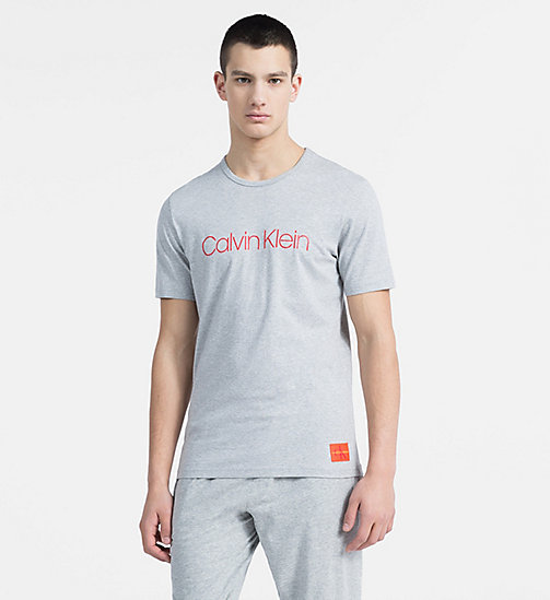 CALVIN KLEIN Футболка с логотипом - Monogram - GREY HEATHER - CALVIN KLEIN MONOGRAM FOR HIM - главное изображение