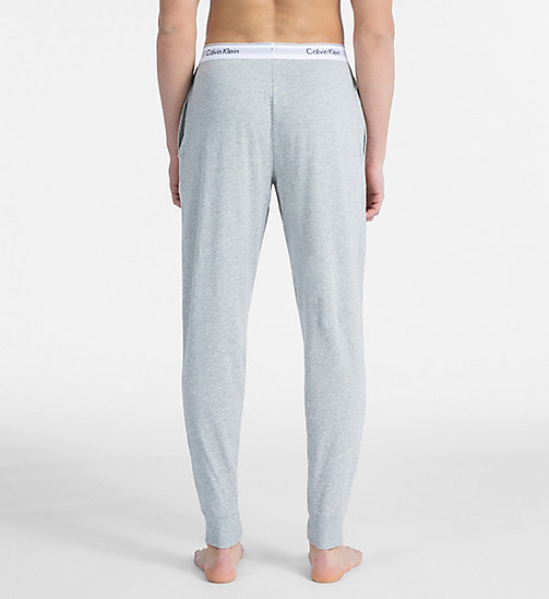CALVIN KLEIN Joggers - Modern Cotton - GREY HEATHER - CALVIN KLEIN LOUNGE PANTS - detail image 1