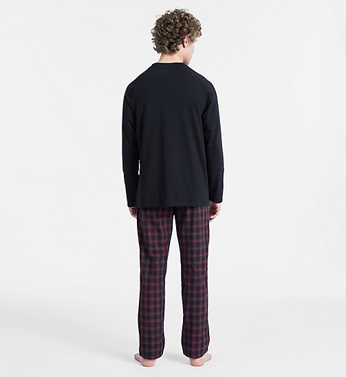 CALVINKLEIN PJ Set - BLACK TOP/PLAID G BLACK PANT - CALVIN KLEIN NEW FOR MEN - detail image 1