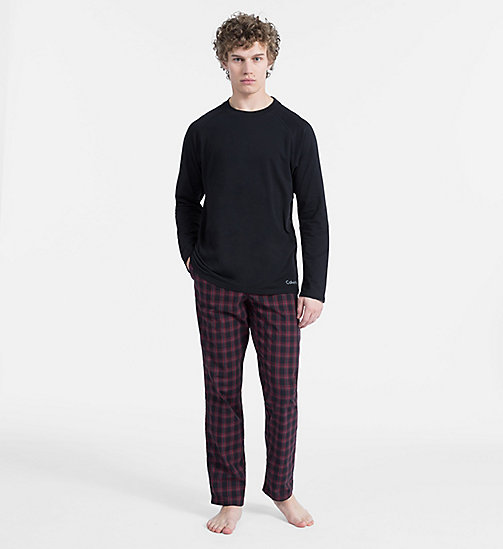 CALVINKLEIN PJ Set - BLACK TOP/PLAID G BLACK PANT - CALVIN KLEIN NEW FOR MEN - main image