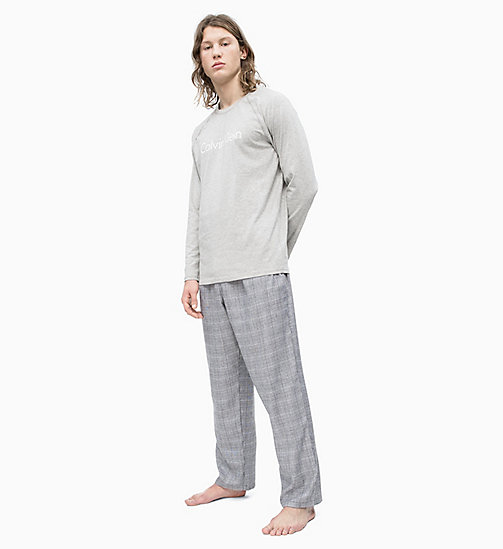 CALVIN KLEIN PJ Set - GREY H TOP/ GLEN  CHARCOAL H PANT - CALVIN KLEIN NEW FOR MEN - main image