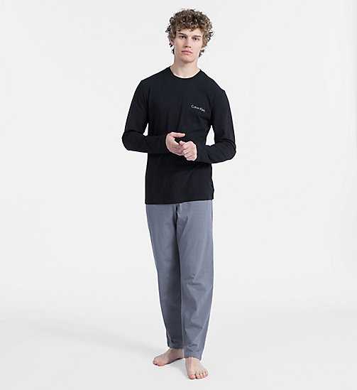 CALVIN KLEIN PJ Set - BLACK TOP/WAEVE GEO BLACK PANT - CALVIN KLEIN ALL GIFTS - main image
