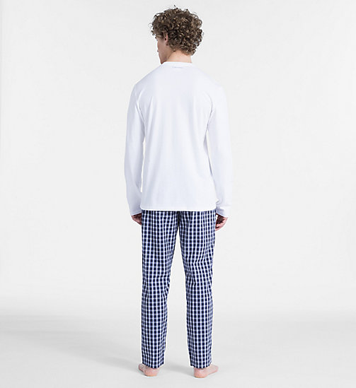 CALVINKLEIN PJ Set - Modern Cotton - WHITE TOP/ STAN PLAID PANT - CALVIN KLEIN PYJAMAS - detail image 1