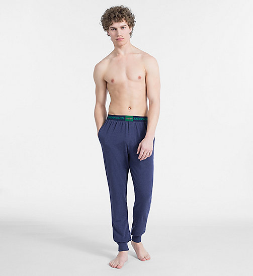 CALVIN KLEIN PJ Pants - Monogram - BLUE SHADOW HEATHER - CALVIN KLEIN NEW FOR MEN - detail image 1