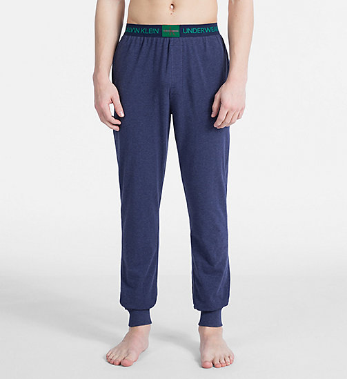 CALVIN KLEIN PJ Pants - Monogram - BLUE SHADOW HEATHER - CALVIN KLEIN NEW FOR MEN - main image
