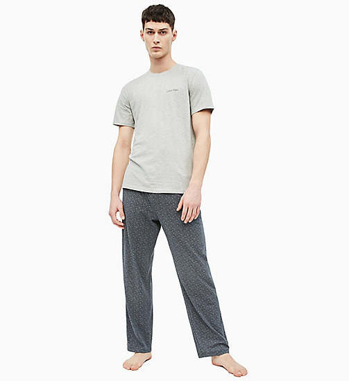 CALVIN KLEIN Hose PJ-Set - GREYH TOP/TEXTURED HATCH SHORELINE - CALVIN KLEIN NEW IN - main image