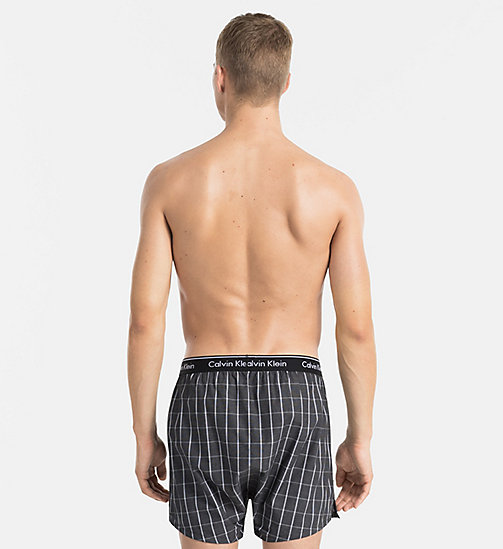 CALVINKLEIN Woven Boxers - RICHARD PLAID BLACK - CALVIN KLEIN UNDERWEAR - detail image 1