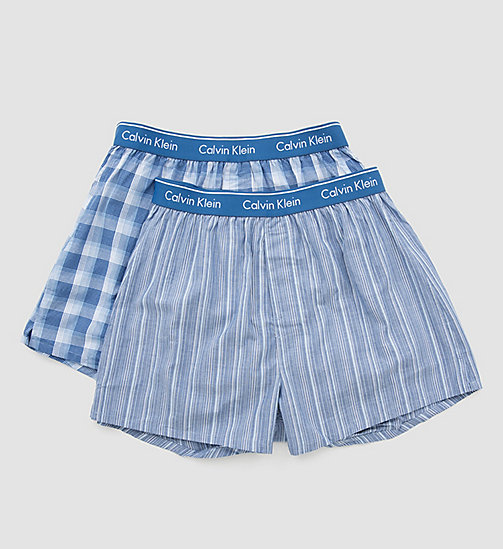 CALVINKLEIN 2 Pack Woven Boxers - LARK PLAID ATALNTIS - GALLAGH - CALVIN KLEIN MULTIPACKS - detail image 1
