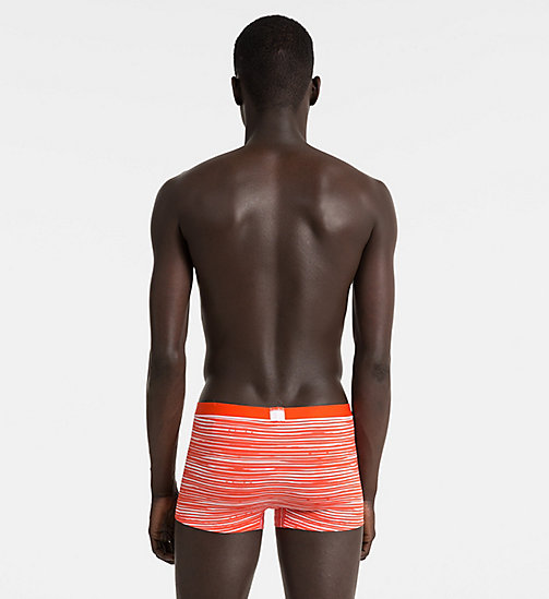 CALVINKLEIN Low Rise Trunks - Calvin Klein ID - RIVER STRIPE ORIOLE - CALVIN KLEIN Bright Colours - detail image 1