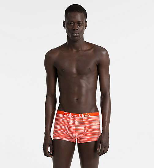CALVINKLEIN Low Rise Trunks - Calvin Klein ID - RIVER STRIPE ORIOLE - CALVIN KLEIN Bright Colours - main image