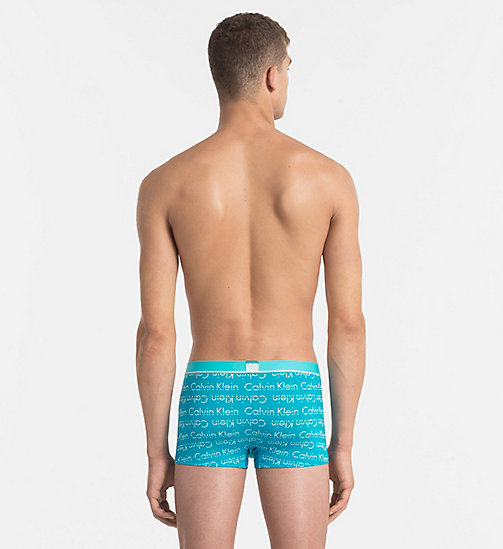 CALVINKLEIN Low Rise Trunks - Calvin Klein ID - STRIKETHROUGH LOGO PRINT SEAWAY - CALVIN KLEIN UNDERWEAR - detail image 1