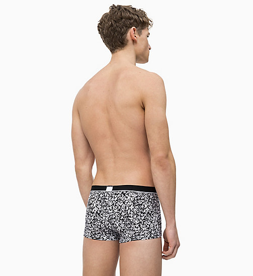CALVIN KLEIN Low Rise Trunks - Calvin Klein ID - STAMP FLORAL PRINT BLACK - CALVIN KLEIN NEW FOR MEN - detail image 1