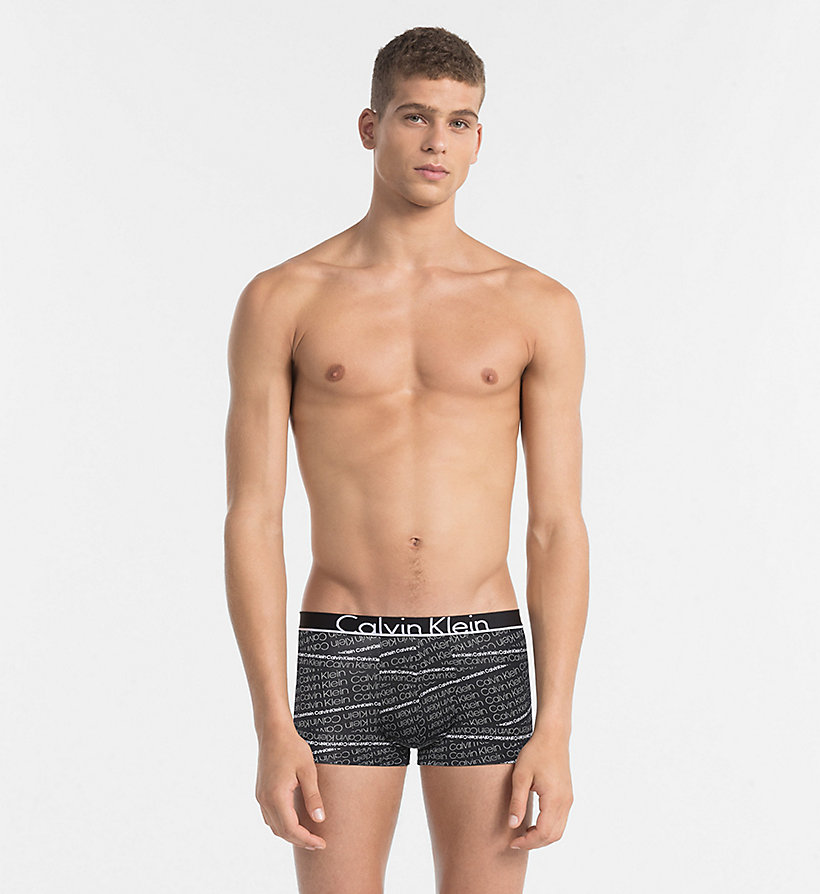 CALVINKLEIN Low Rise Trunks - Calvin Klein ID - STRIKETHROUGH LOGO PRINT SEAWAY - CALVIN KLEIN UNDERWEAR - main image