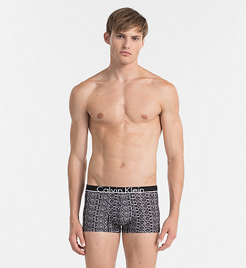 CALVINKLEIN Low Rise Trunks - Calvin Klein ID - DRIFT LOGO PRINT BLACK - CALVIN KLEIN NEW IN - main image