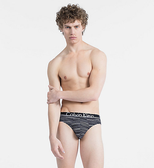 CALVIN KLEIN Hip Briefs - Calvin Klein ID - RUSH STRIPE BLACK - CALVIN KLEIN NEW FOR MEN - main image