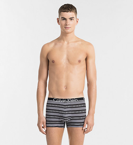 CALVINKLEIN Trunks - Calvin Klein ID - BEAM STRIPE PRINT BLACK - CALVIN KLEIN TRUNKS - main image