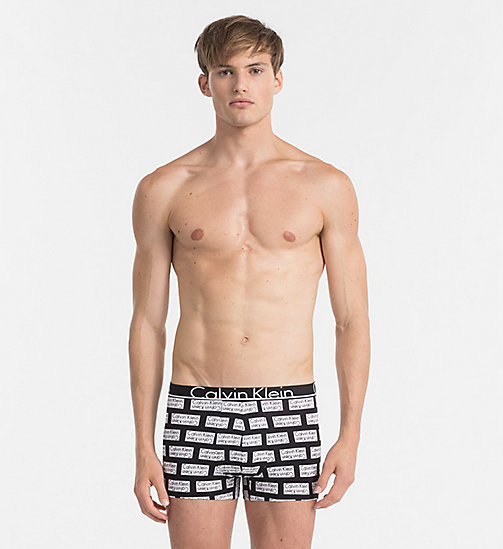 CALVINKLEIN Trunks - Calvin Klein ID - INVERTED BLOCK LOGO PRINT BLACK - CALVIN KLEIN NEW IN - main image
