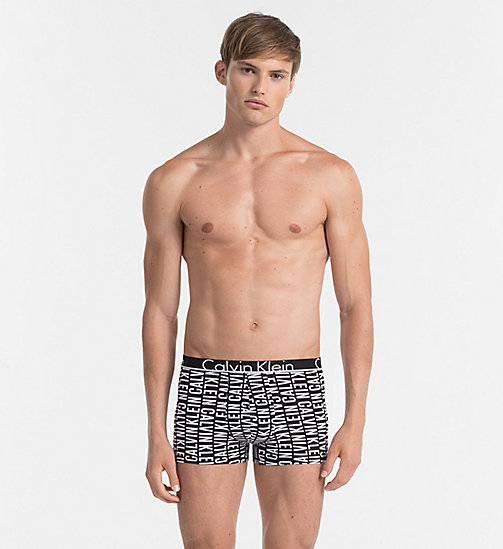 CALVINKLEIN Trunks - Calvin Klein ID - REVERSED LOGO PRINT BLACK - CALVIN KLEIN TRUNKS - main image