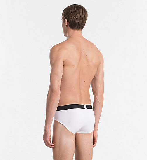 CALVIN KLEIN Hip Briefs - Tech Fusion - WHITE - CALVIN KLEIN BRIEFS - detail image 1