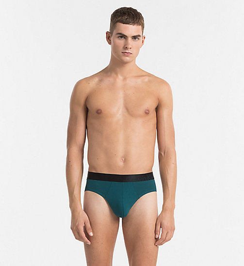 CALVINKLEIN Hip Briefs - Tech Fusion - DEEP TEAL - CALVIN KLEIN BRIEFS - main image