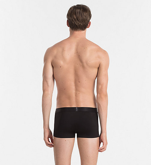 CALVIN KLEIN Low Rise Trunks - Edge - BLACK - CALVIN KLEIN UNDERWEAR - detail image 1