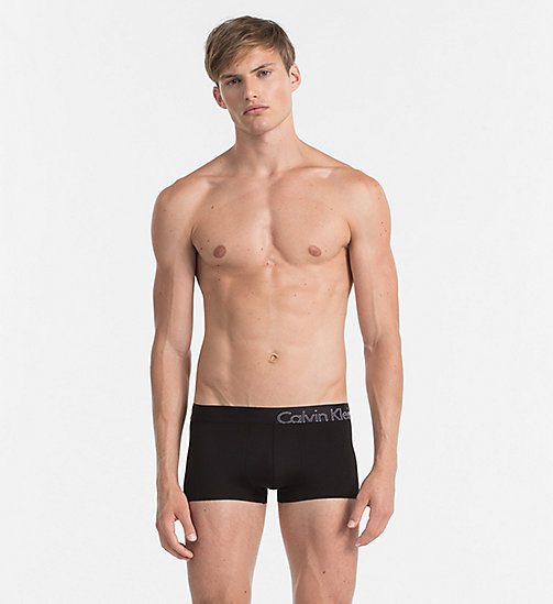 CALVINKLEIN Low Rise Trunks - Edge - BLACK - CALVIN KLEIN UNDERWEAR - main image
