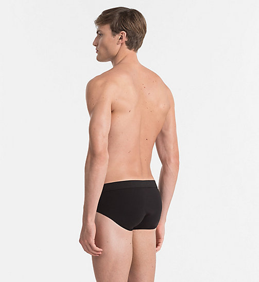 CALVINKLEIN Hip Briefs - Infinite - BLACK - CALVIN KLEIN MEN - detail image 1