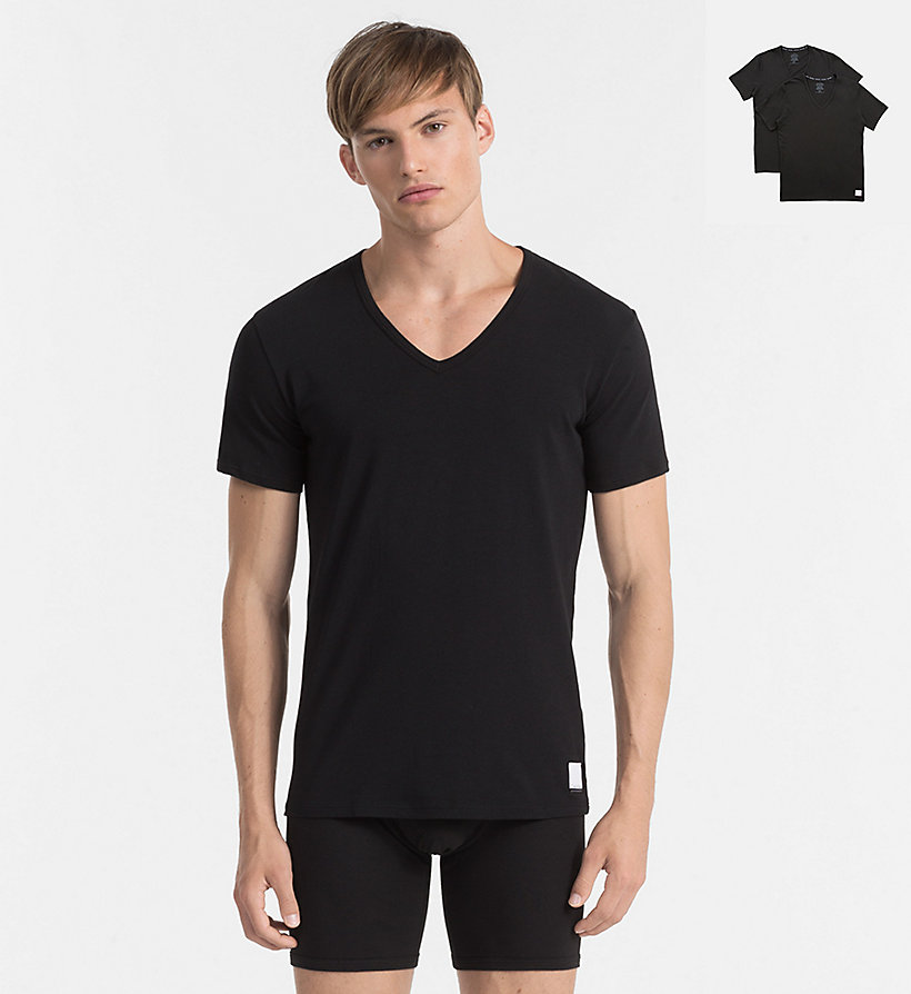 2 pack t shirts calvin klein id calvin klein 000nu8698a001. Black Bedroom Furniture Sets. Home Design Ideas