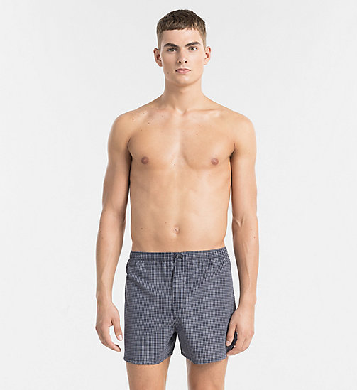 CALVINKLEIN Slim Fit Boxers - DEMI CHECK BLUE SHADOW - CALVIN KLEIN UNDERWEAR - main image