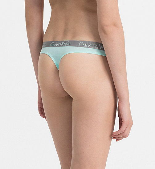 CALVINKLEIN Thong - Radiant Cotton - KEPPEL - CALVIN KLEIN THONGS - detail image 1
