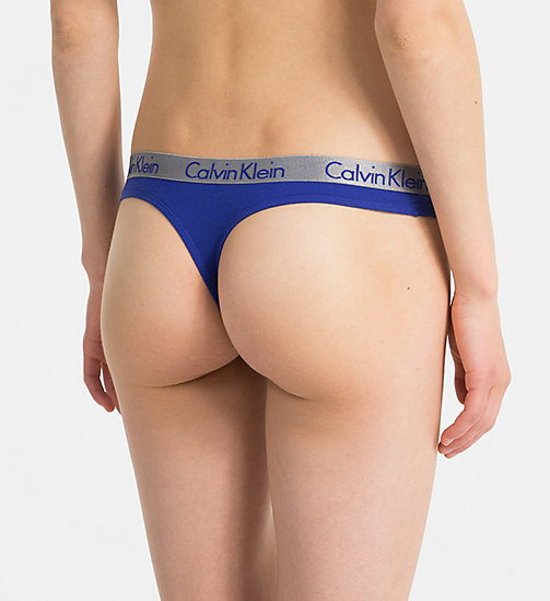 CALVINKLEIN String - Radiant Cotton - OPTICAL BLUE - CALVIN KLEIN UNDERWEAR - main image 1
