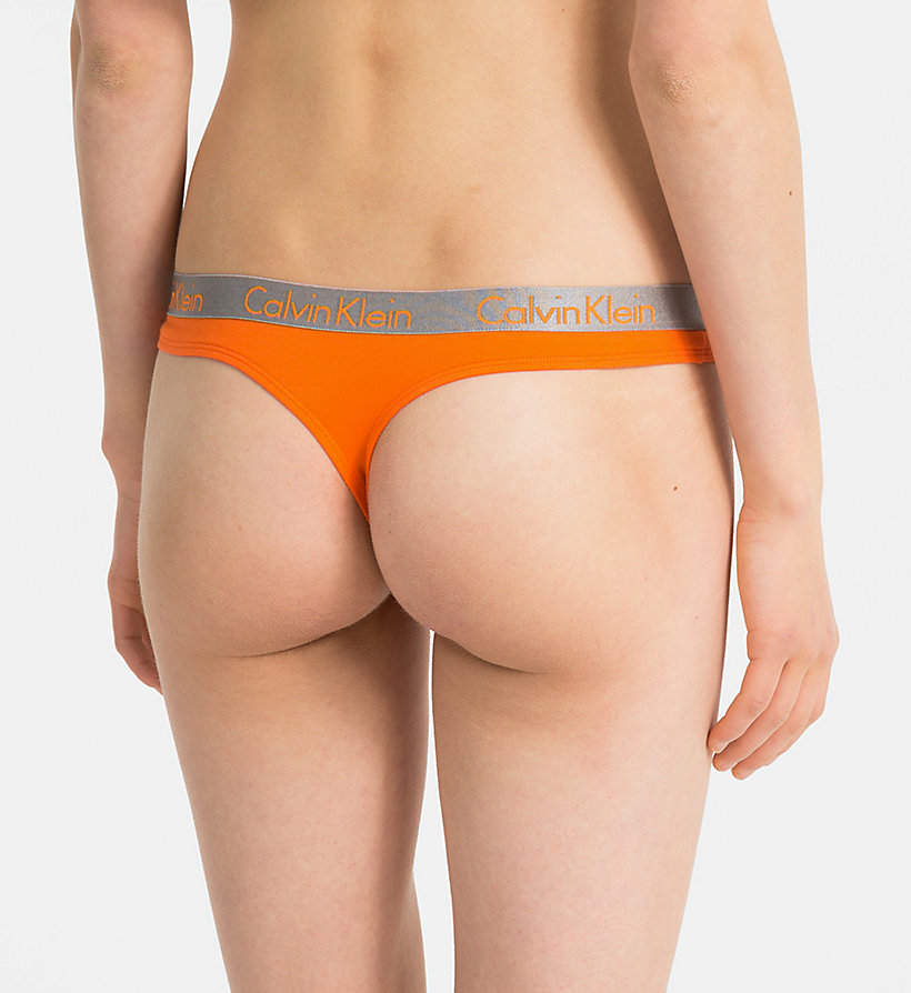 CALVIN KLEIN String - Radiant Cotton - BLACK - CALVIN KLEIN ONDERGOED - detail image 1