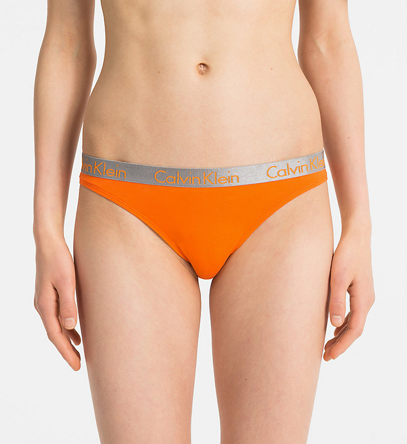 CALVIN KLEIN String - Radiant Cotton - BLACK - CALVIN KLEIN ONDERGOED - main image