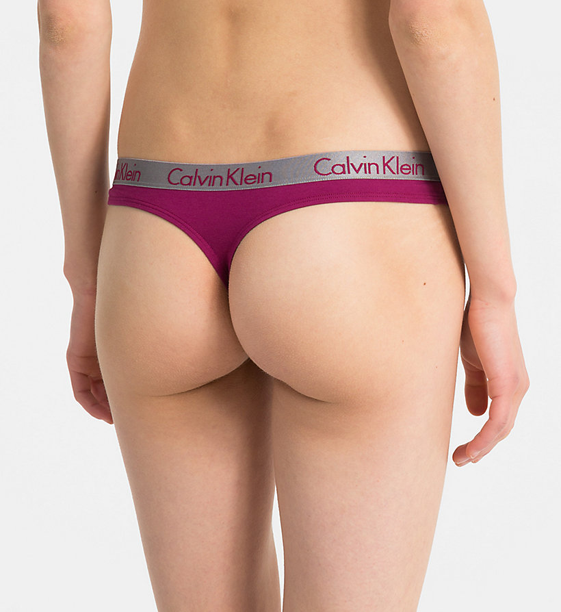 CALVIN KLEIN String - Radiant Cotton - WHITE - CALVIN KLEIN ONDERGOED - detail image 1