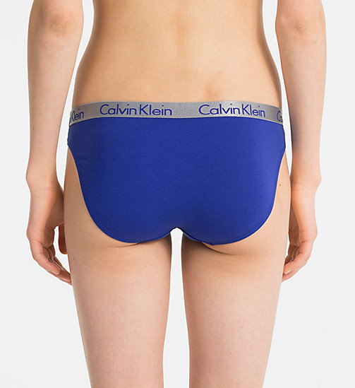CALVINKLEIN Bikini Brief - Radiant Cotton - OPTICAL BLUE - CALVIN KLEIN BIKINI BRIEFS - detail image 1