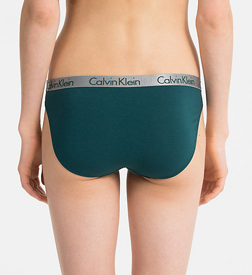 CALVINKLEIN Bikini Brief - Radiant Cotton - DARK CYAN - CALVIN KLEIN UNDERWEAR - detail image 1